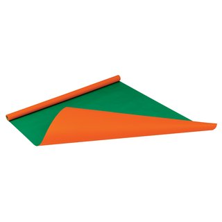 Packpapierrolle Color orange/grün, 0,75x4m
