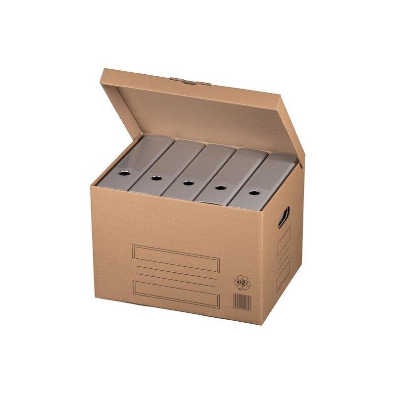 Archivcontainer Archivschachteln Archivkartons Stülpdeckel Braun 413x330x266mm